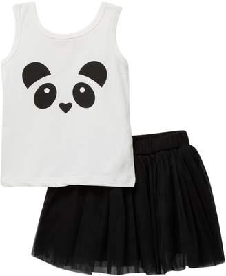 Funkyberry Panda 2-Piece Tutu Set (Baby, Toddler, & Little Girls)