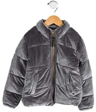 Molo Girls' Velvet Puffer Coat