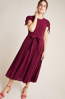Gal Meets Glam Bette Bow-Tied Midi Dress