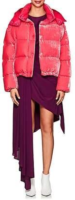 Moncler Women's Caille Velvet Puffer Coat - Pink