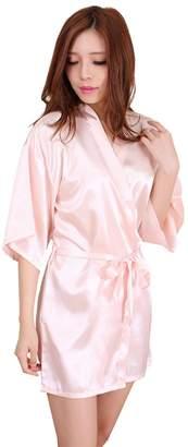 Tinkky Kimono Robeleepwear Mid-Thighatin Robe Bridal Lingerie Dreing Gown