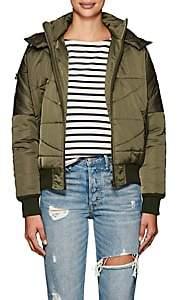 NSF Women's Veda Tech-Satin Puffer Jacket-Dark Olive Green
