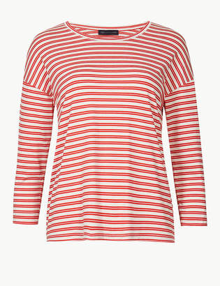 Marks and Spencer PETITE Striped Round Neck T-Shirt