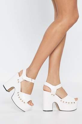7a830779d40 Nasty Gal Studded Platform Heels