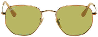 Ray-Ban Copper and Green Hexagonal Evolve Sunglasses