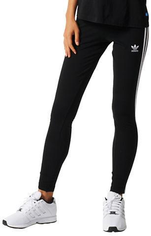 Adidas Three-Striped Cotton-Blend Leggings