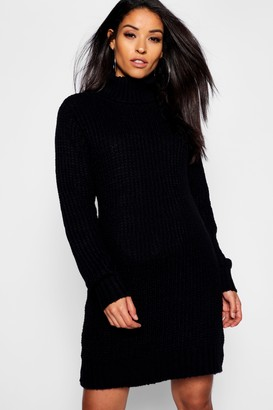 boohoo Maternity Soft Knit Roll Neck Jumper Dress