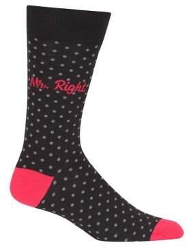 Hot Sox Mr. Right Printed Socks