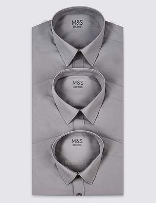 Marks and Spencer 3 Pack Boys' Easy to Iron Shirts