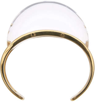 """Colette Malouf Lucite & Gold Cuff Bracelet """"Luna"""""""