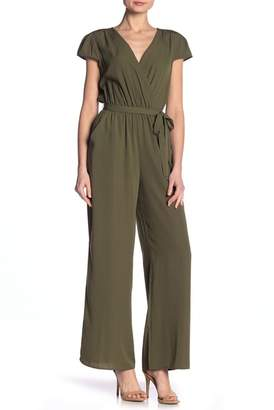 BE BOP Faux Wrap Tie Waist Jumpsuit