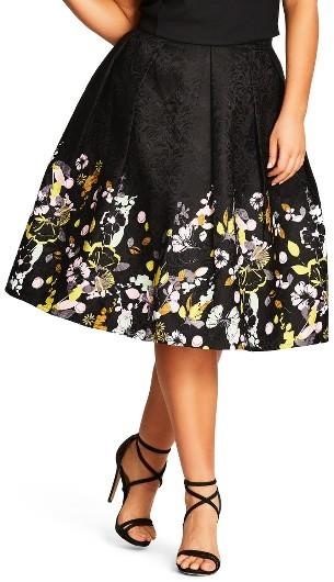 My 5 Favorite Black Floral Print Midi Skirts  www.toyastales.blogspot.com #ToyasTales #fashion #floralprints #midiskirts