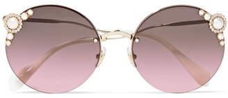 cbc84a1d0ff7 Miu Miu Gold Sunglasses For Women - ShopStyle Australia