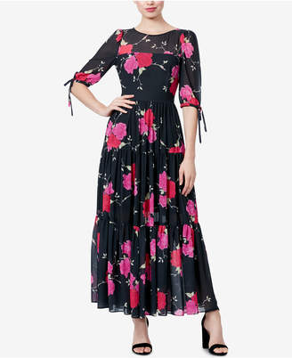 Betsey Johnson Floral-Print Maxi Dress