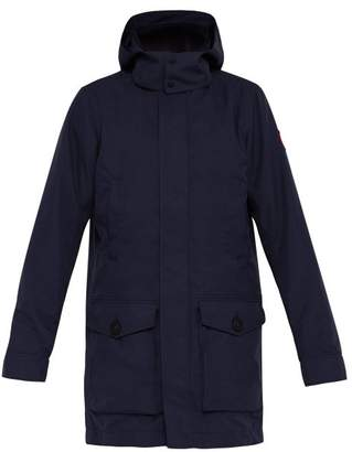 Canada Goose Crew Hooded Trench Coat - Mens - Navy