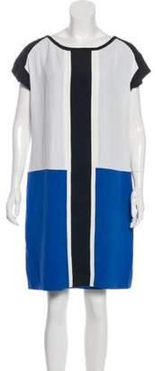 Alberta Ferretti Silk Colorblock Dress