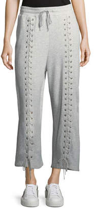 McQ Lace-Up Drawstring Sweatpants