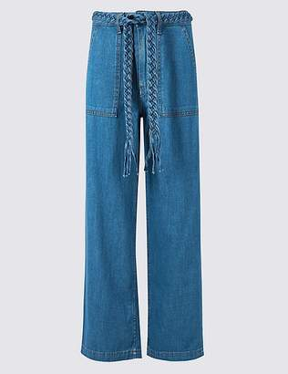 Marks and Spencer Wide Leg Plait Roma Rise Jeans