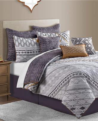 Sunham Rhodes Reversible 10-Pc. Geo-Print Queen Comforter Set Bedding
