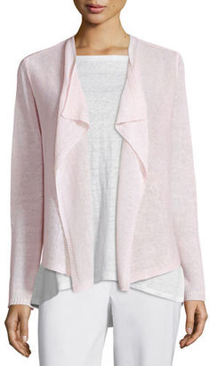 Eileen Fisher Draped-Front Organic Linen Cardigan $178 thestylecure.com