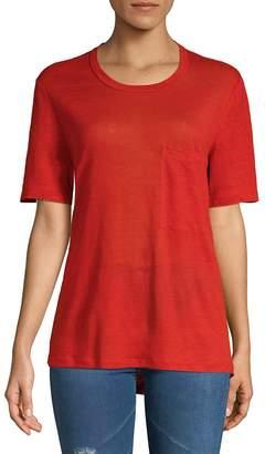 A.L.C. Women's Joels Cutout Linen Tee