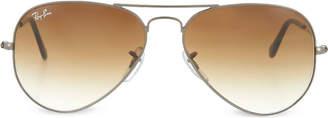 Ray-Ban Gunmetal aviator sunglasses with gradient lenses RB3025 55