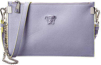 Versace Palazzo Chain Trim Leather Pouch