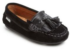 Boy's Suede Loafers $89 thestylecure.com