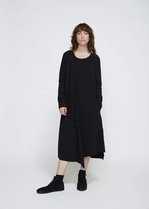 Yohji Yamamoto Y's by Long Sleeve Crewneck Dress
