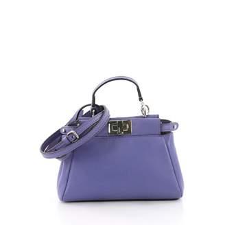 Fendi Peekaboo leather mini bag
