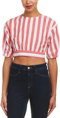 Do & Be DO+BE Do+Be Stripe Crop Top