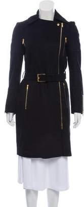 Gucci Zipper-Accented Wool Coat