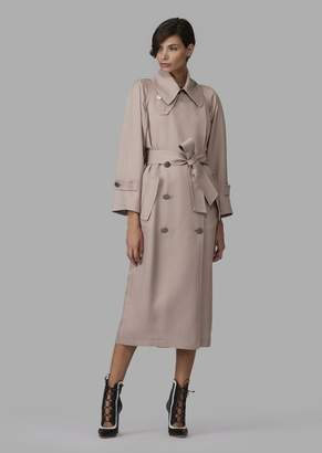 Giorgio Armani Double-Breasted Trench With Belt