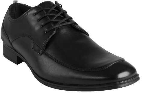 Kenneth Cole Reaction black leather lace-up 'Ghost Trace' oxfords
