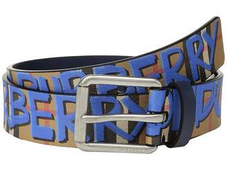 88ff1e8f21e3 Burberry Mark Printed Vintage Check Leather Belt