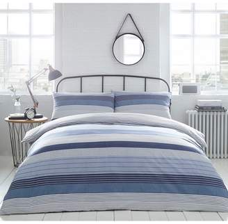 The Collection Home Collection - Blue 'Ellison' Stripe Bedding Set