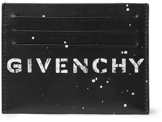 Givenchy Printed Leather Cardholder
