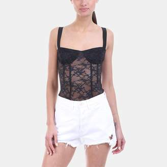 KENDALL + KYLIE Kendall & Kylie Lace Corset Bodysuit