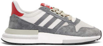 adidas Grey and Red ZX 500 RM Sneakers