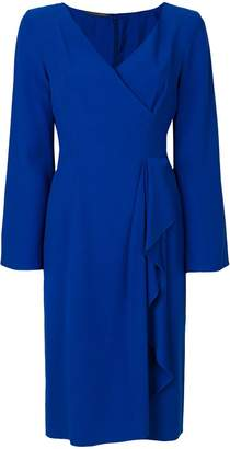 Alberta Ferretti draped front detail dress