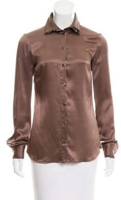 Just Cavalli Collared Silk Button-Up