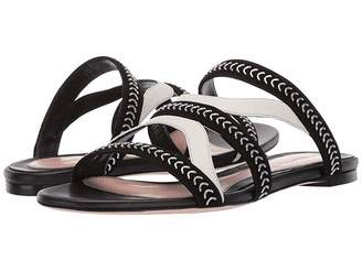 Alexander McQueen Flat Leather Sandal Slide