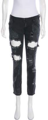 One Teaspoon Distressed Low-Rise Jeans w/ Tags