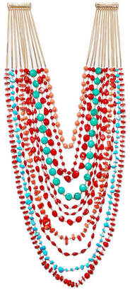 Rosantica Prato Fiorito Gold-tone Beaded Necklace - Red