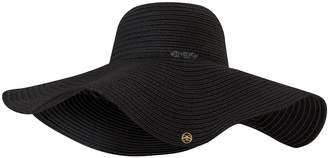 Seaspray Black Wide Brimmed Sun Hat