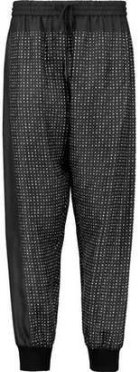DKNY Printed Silk-Twill Tapered Pants