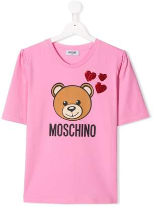 0d18d387 Moschino Kids heart appliqué toy T-shirt