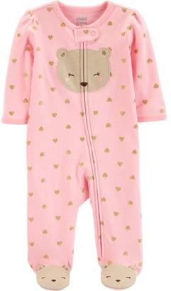 Carter's Child of Mine by Zip-up sleep n play pajama (baby girls)