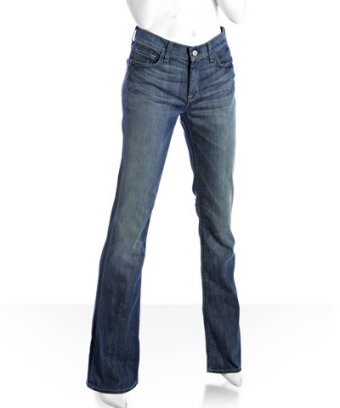 7 for All Mankind light wash faded highwaist bootcut jeans