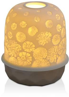 Bernardaud Lampion Silver Zinnias LED Lamp